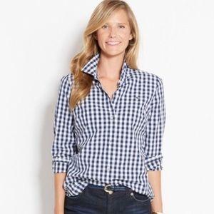 Vineyard Vines Navy & White Gingham Checked Shirt